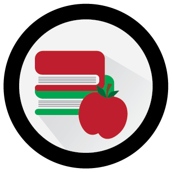 Book and Apple image