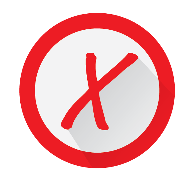 red x problem icon